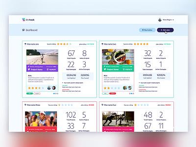 On-track Dashboard app design logo design app ui app dashboard dashboard ui design dashboard design