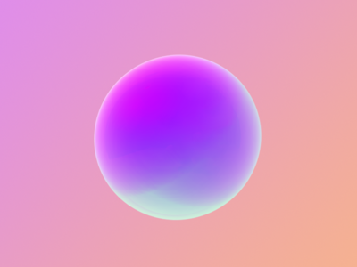 Colour experiments ball softbody abstract gradients vivid colours
