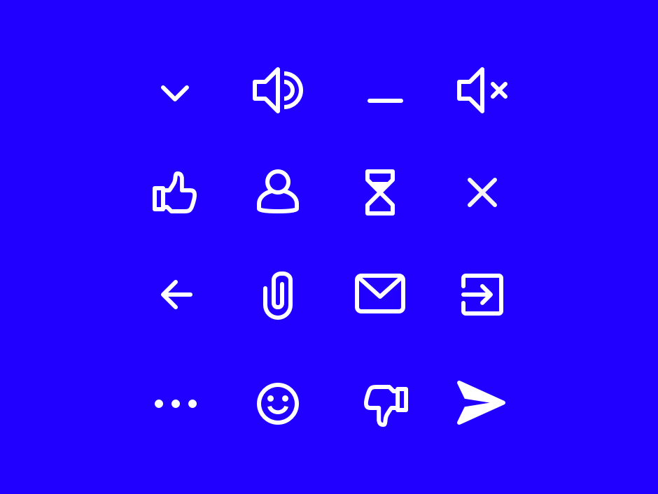 Chat window Icons ui send controls attachment like iconset icons