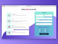 UI Web Form - Gradient Landing Page