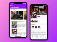 Movies iOS app on iPhone X