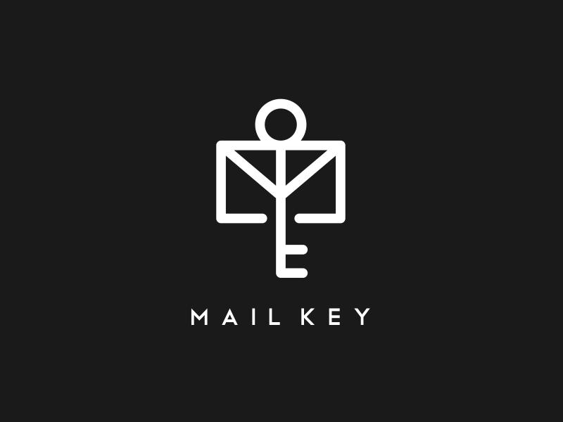 mail & key identity type illustrator character best icon pictogram monogram designs design logos logo