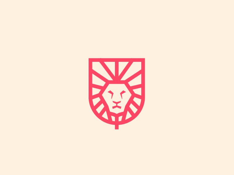 lion monoline v.2 monogram logogram monoline logos logo icon animals mascot lion