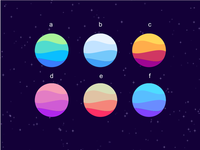 colors for waves flat-color logogram flat-design monogram logos logo icon color waves