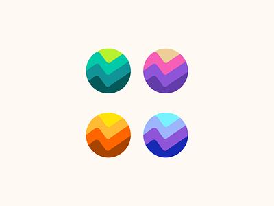 growt round pictogram logogram monogram icon logos logo color round growt