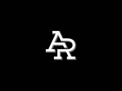 A R logo logos a letter initial monoline monogram logogram logoline icon pictogram initials