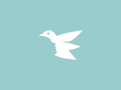 bird + face monoline logogram monogram logos logo icon mascot animals animal bird face