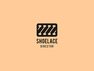 shoelace director art-design negative-space monogram smart-logo icon logos logo film-logo film director shoelace