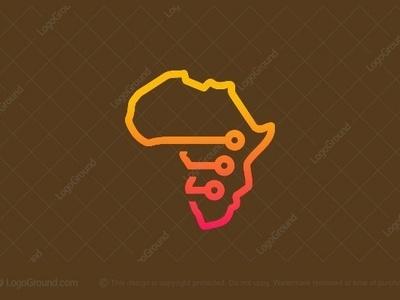 Africa Tech Logo vector smart-logo monoline logogram type illustrator designs design character best pictogram monogram logos icon logo