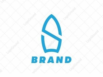 Surfing Logo illustration color monoline logogram identity illustrator designs design best pictogram monogram logos icon logo seals waves beach seal surfing surfing logo