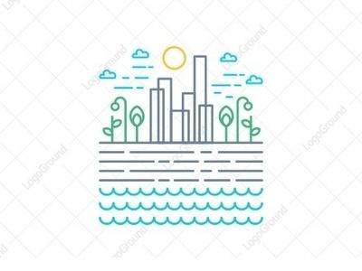 city line illustration color monoline logogram type identity illustrator designs design character best pictogram monogram logos icon logo city guide city builder city logo city