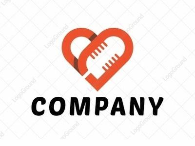 love mic illustration color monoline logogram identity illustrator designs design character best pictogram monogram logos icon logo mic logo mic heart logo heart love