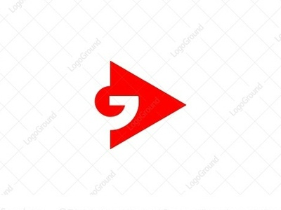 go play illustration monoline logogram type identity illustrator designs design character best pictogram monogram logos icon logo play icon dual meaning play logo play button play