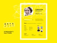 DailyUI #006 User Profile Network Community