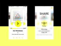 DailyUI #008 #009 Music Player and Social Share