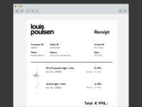 DailyUI #017 Email Receipt Louis Poulsen