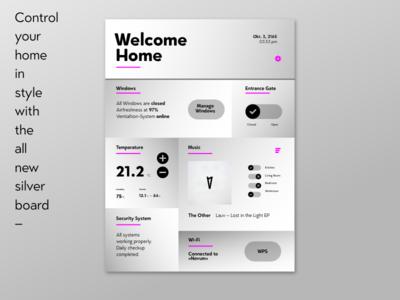 DailyUI #021 Home Monitoring Dashboard temperature music magenta interface user design dashboard monitoring home ui daily