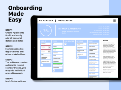 DailyUI #025 Onboarding Manager due dates kanban dashboard human resources manager hr challenge dailyuichallenge design onboarding dailyui ui daily