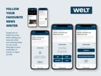DailyUI #026 Subscribe Idea for WELT News App