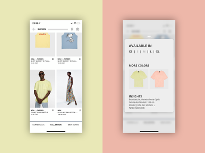 DailyUI #027 Dropdown a.k.a. Pop-Up for Zalando choice fashion zalando popup dropdown dailyui interface app design ui daily