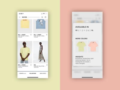 DailyUI #027 Dropdown a.k.a. Pop-Up for Zalando choice fashion zalando popup dropdown dailyui interface app design ui daily