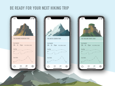 DailyUI #029 Map vector appointment hiking illustration mountain trekking map interface dailyui design minimal typography ui daily