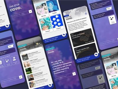 OneStopCovid app covid hackathon mithackathon chatbot