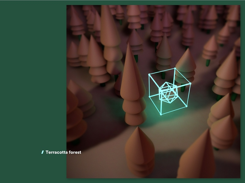 Terracotta Forest render digitalart future forest c4d cinema4d maxon abstract illustration material 3dart