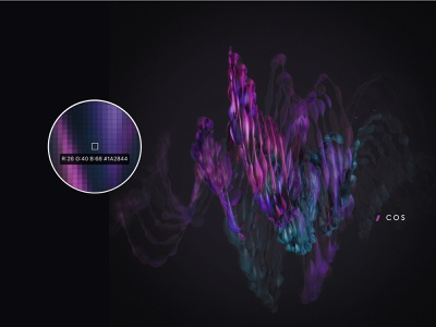 Cos gradient cosmic dark illustration abstract concept