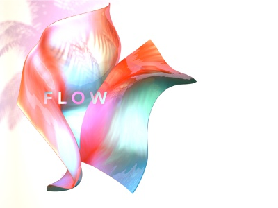Flow graphic ambient colorful emotional design gradient c4d abstract material render 3dart 3d