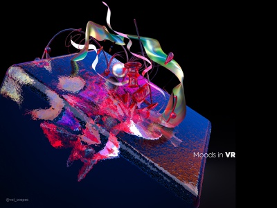 Moods in VR - Submerged web 3d illustration inspiration adobe colors ui neon black generativeart graphicdesign bold abstract illustration ar vr augmented gravitysketch virtualreality 3dart