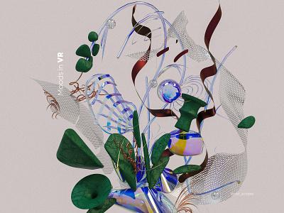 Moods in VR virtual cinema4d digitalart vr ar illustrations abstract graphics web ui materials generativeart colors compostion render inspiration 3darts web