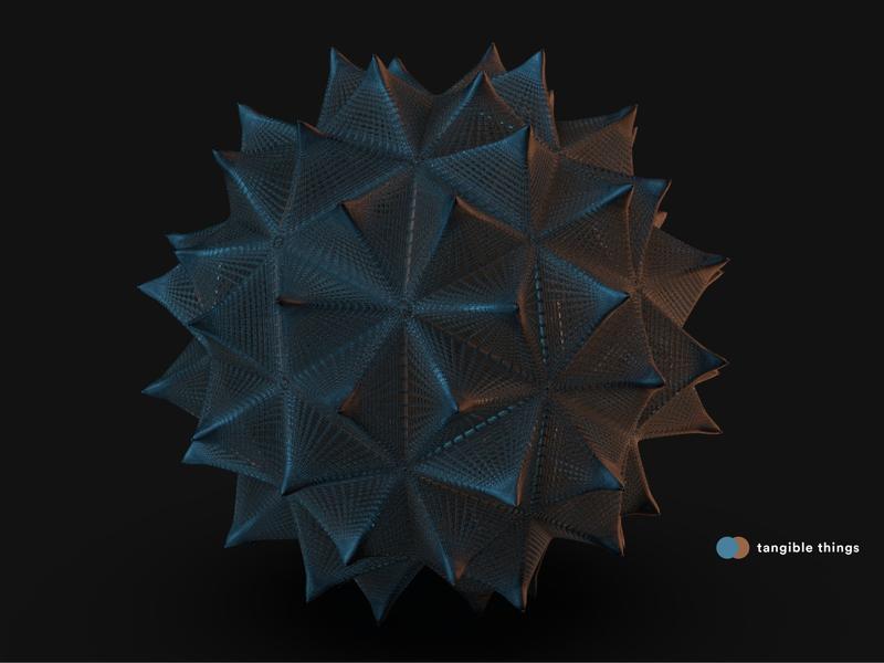 Tangible things feel emotions geometry tactile lights colors cinema4d c4d material digitalart 3dart 3d