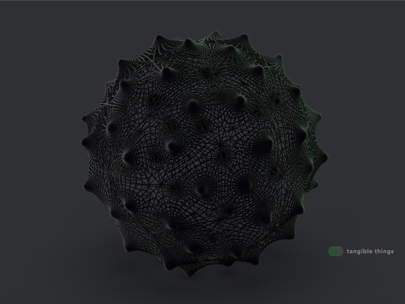 tangible things c4d organism light concept abstract illustration material 3dart 3d