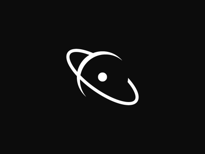 The Exoverse the exoverse negative space outline core ring planet logo