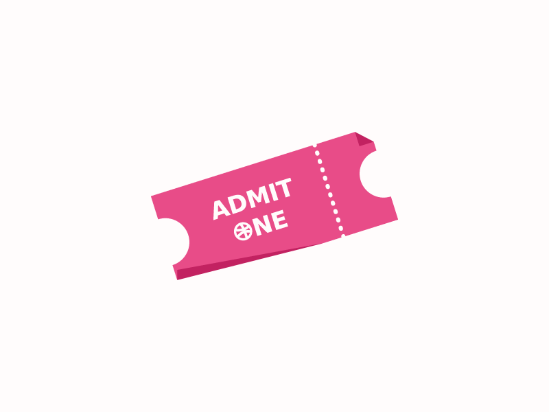 Dribbble Invitation ticket invitation draft dribbble