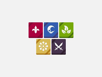 Wargroove Factions game video game outlaws heavensong floran felheim cherrystone banners wargroove factions faction logo banner vector