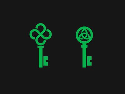 Celtic Knots Keys clover negative space for sale exploration logo keys key knots knot celtic triquetra