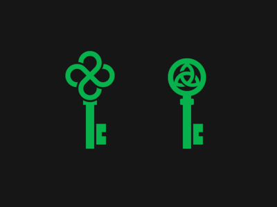 Celtic Knots Keys clover negative space for sale exploration logo keys key knots knot celtic triquetra