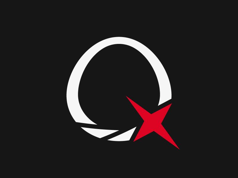 Quazar Nova the exoverse vector quazar logo exploration rebound space black hole star light implicit motion quasar design letter q q letter