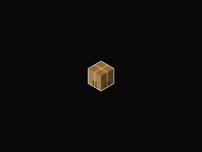 Love Package infinite recycle love heart cardboard delivery package box exploration motion animation after effects