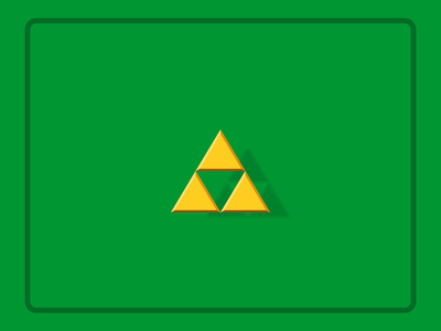 Floating Triforce motion wisdom courage power gold triangle the legend of zelda zelda triforce after effects animation after effects 2d animation vector animation