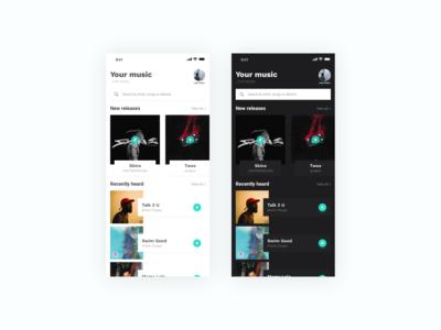 Music app - Mobile Concept