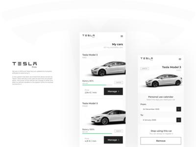 Tesla Ride | App Design Concept