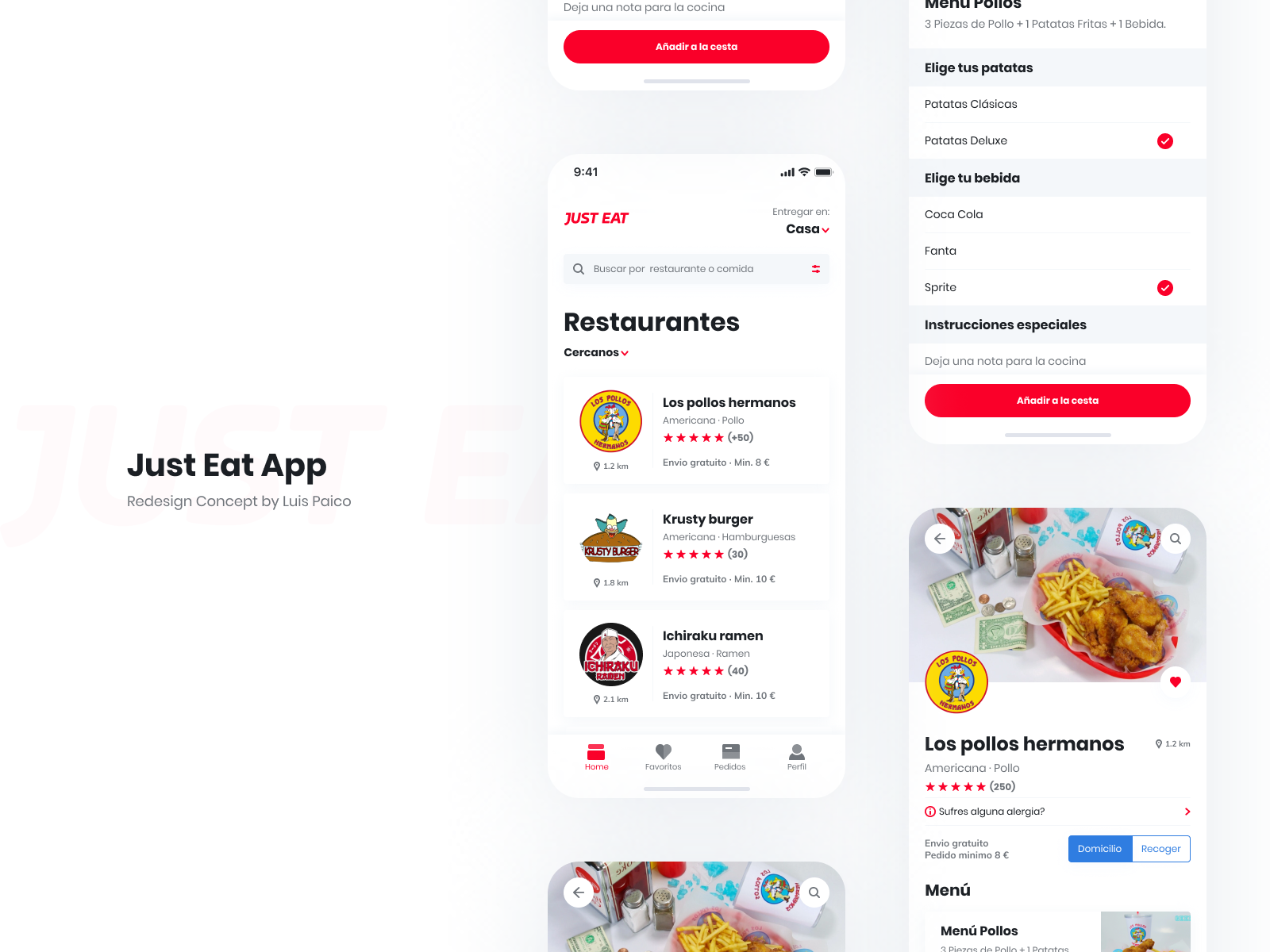 Just Eat App Redesign Concept By Luis Paico On Dribbble