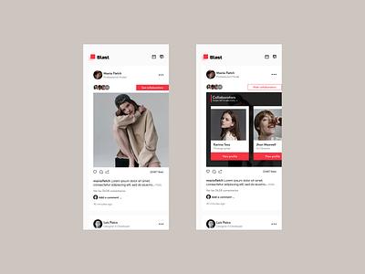Blast - App Concept ux design user inteface figma dashboard ux social media design clean design trend mobile ui feed social app social media social concept app blast
