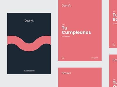 Jessy's rebrand | Flyers pink quinceaños boda logotype logo new logo new brand rebranding brand identity brand design flyer flyers rebrand brand