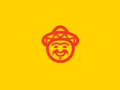 Mario Tacos logodesign branding design illustration sombrero mexican happy face logo design logotype logo brand identity branding brand