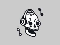 Skull music icon