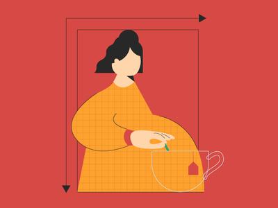 Waiting clock time pregnancy woman pregnant